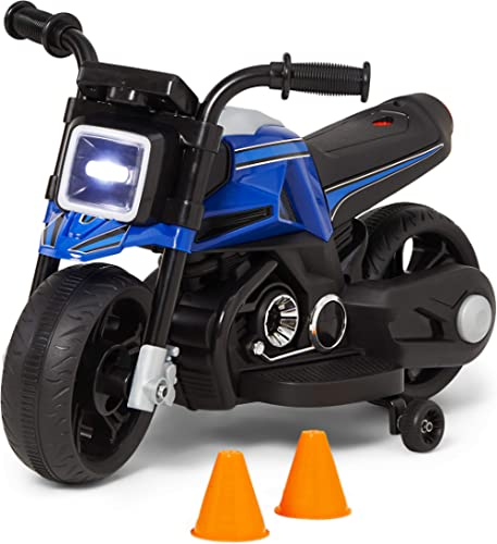 Kid Trax Toddler Motorcycle Kids Ride On Toy, 6 Volt Battery, 1.5-3 Years Old, Max Weight of 44 lbs, Single Rider, Bl...