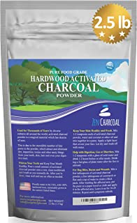 Large 2.5 lb Hardwood Activated Charcoal Powder 100 Percent from USA Trees. All Natural. Whitens Teeth, Rejuvenates Skin and Hair, Detoxifies, Helps Digestion, Treats Poisoning, Bug Bites, Wounds.