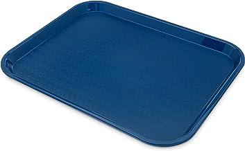 صينية طعام سريعة وكافيتيريا عادية من كارليسلي CT141814 كافيه مقاس 35.56 سم × 45.72 سم، باللون الأزرق