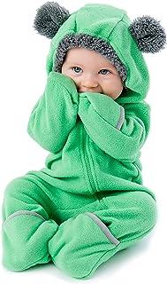 Mono Polar Bebé para Recién Nacidos a Niños 4 Años - Pijamas Infantiles Chaqueta de Invierno Abrigo Polar Niño Mono de Niños