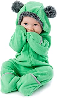 Fleece Baby Bunting Bodysuit for Newborn to 4T – Infant Pajamas Winter Jacket Outerwear Coat Toddler Costume