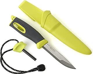 Light My Fire Swedish FireKnife Fixed Blade Knife with 9.5 cm (3.75 Inch) Sandvik Stainless Steel Blade and Swedish FireSteel Fire Starter