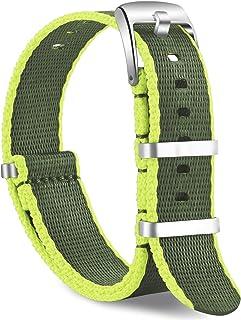 OLLREAR Nylon Cinturini Orologi Tela di canapa Orologi Bracciale Cinturino - 15 Colors & 2 Sizes - 20mm, 22mm