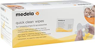 Medela Quick Clean Breast Pump And Accessory Wipes, 40 Count, Individually Wrapped..