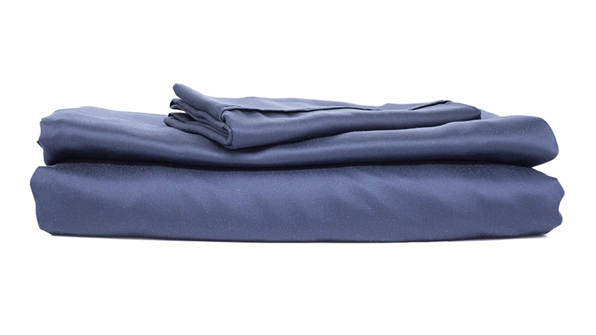 Sheets & Giggles Eucalyptus Lyocell Pillowcases. Made for Sensitive Skin and Hair, Our Hypoallergenic Pillowcases are Naturally Smoother, Cooler & More Sustainable Than Cotton- no Sheet. King, Navy