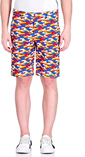 Reptilia Designer Salil Bhatia Men's Crayon Beach Slim Fit Cotton Shorts