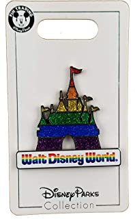 WDW Trading Pin - Rainbow Pride Colors - Cinderella Castle