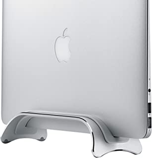 SIIG Aluminum Adjustable Vertical Laptop Stand - Space Saving Laptop Holder Compatible with MacBook Pro 13 & 15, MacBook Air, and More 0.25