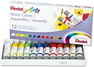 Pentel Arts Water Colors, Assorted, 5ml Tubes, 12 Color Set (WFRS-12)