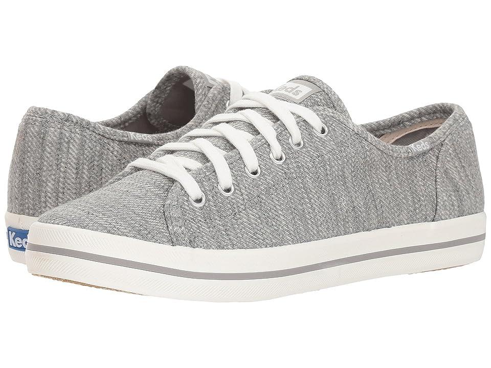 Keds Kickstart Twill Stripe Jersey (Light Gray) Women