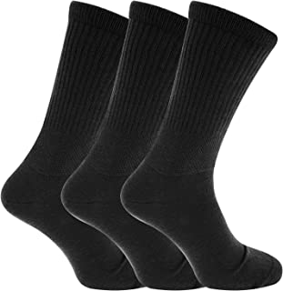 """6x Pairs of Men's THERMAL Diabetic""""EXTRA WIDE"""" Socks with Hand Linked Toe Seam/UK 6-11 Eur 39-45"""