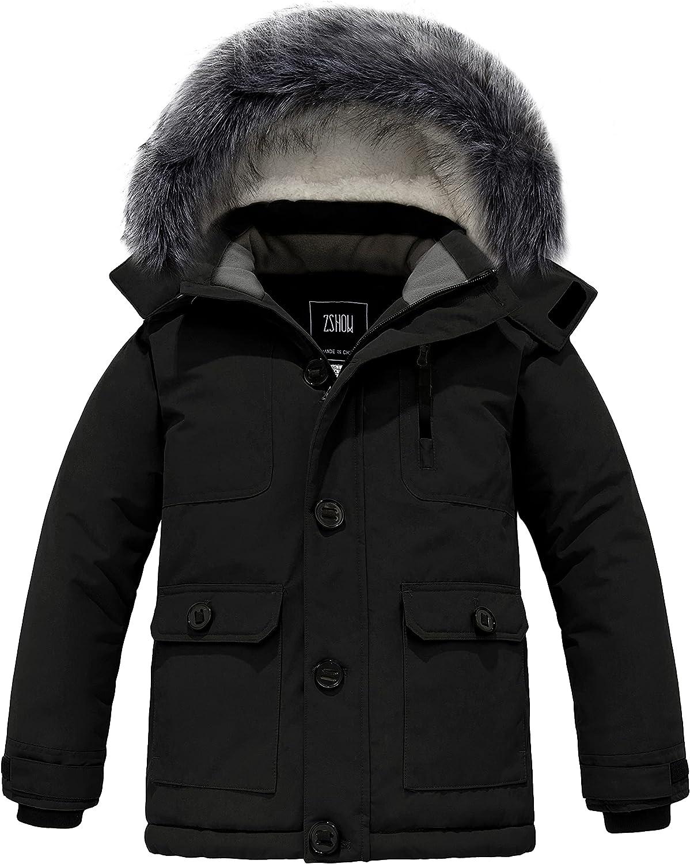 ZSHOW Boys' Hooded Winter Coat Thick Dealing full Atlanta Mall price reduction Fleece Ja Warm Puffer Parka