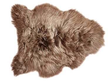 Genuine Icelandic Breeze Sheepskin – Frosted – Straight/Long Pile (Brown)