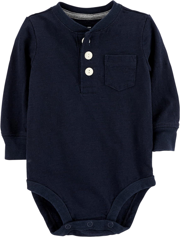 OshKosh B'Gosh Baby Boys' Pocket Bodysuits Daily bargain Max 87% OFF sale Henley