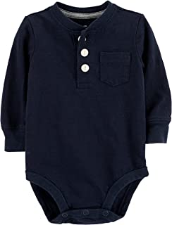 OshKosh B'Gosh Baby Boys' Pocket Henley Bodysuits