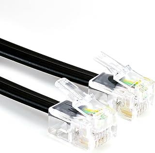 CSL - Cable telefónico RJ11 de 10 m con 2 Conectores RJ11