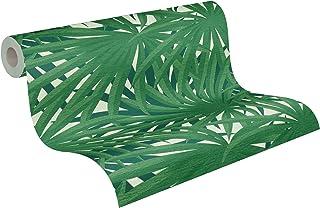 livingwalls Fleuri Metropolitan Stories 2 A.S. Création Said-Marrakesch Papier Peint intissé 10.05 m x 0.53 m Vert Métalli...