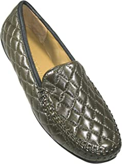 Women's 'Quana' Khaki Quilted Leather Moccasin