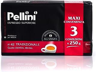 Pellini Caffè Espresso per Moka N. 42 Tradizionale, 3 x 250 g