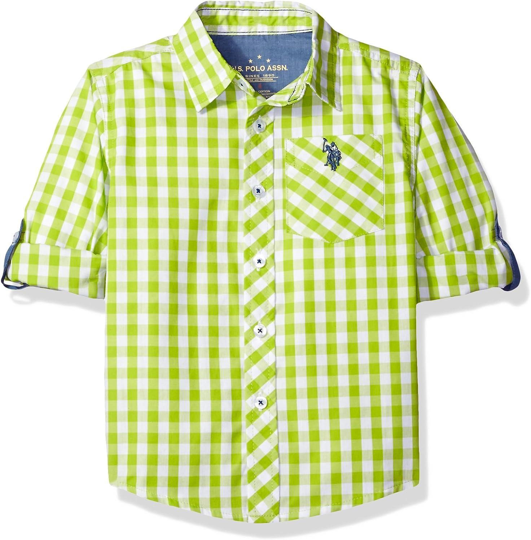 U.S. Polo Assn. Boys' Long Sleeve Gingham Check Woven Sport Shirt