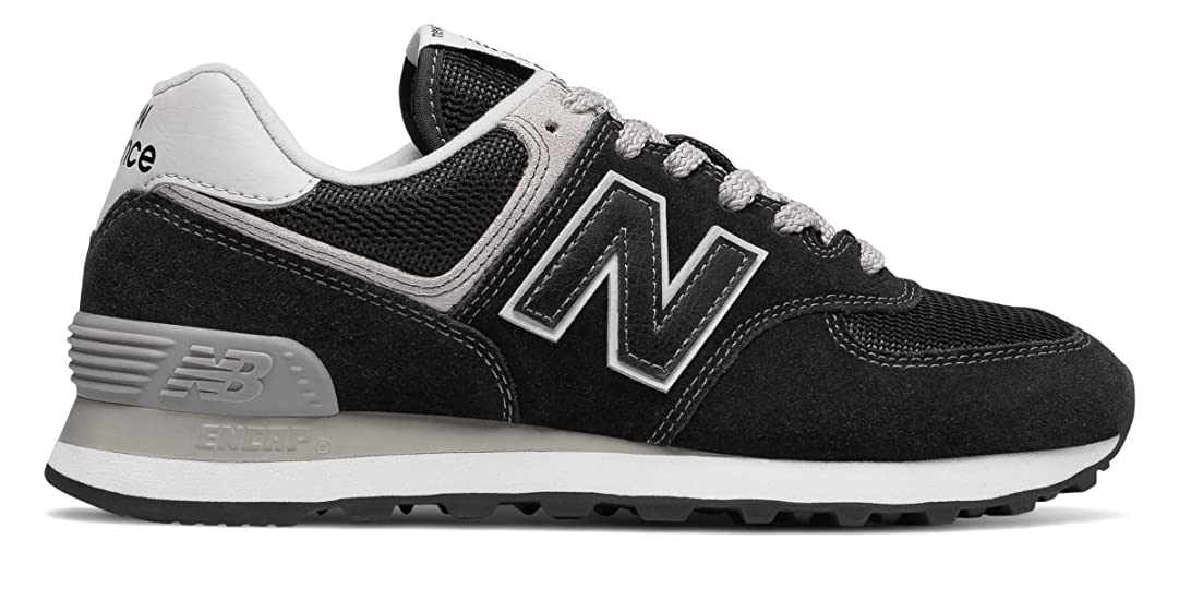 蜜特別な一目(ニューバランス) New Balance 靴?シューズ レディースライフスタイル 574 Black with White ブラック ホワイト US 6.5 (23.5cm)