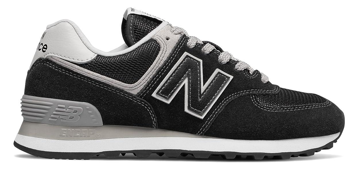 泥棒余暇はさみ(ニューバランス) New Balance 靴?シューズ レディースライフスタイル 574 Black with White ブラック ホワイト US 6.5 (23.5cm)