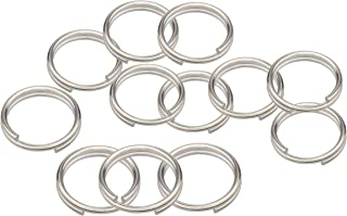Wisdompro Split Ring, 12 Pack of Small Titanium Alloy Key Chain Rings for Home Car Office Keys Attachment (Diameter-14mm)
