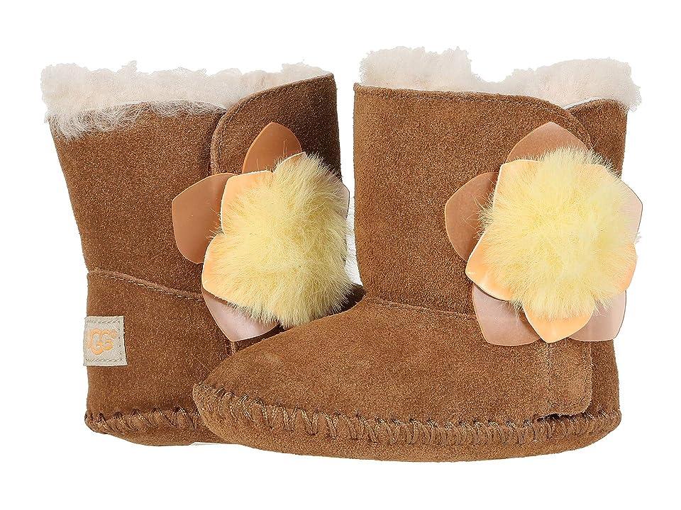 UGG Kids Cassie Cactus Flower (Infant/Toddler) (Chestnut) Girls Shoes
