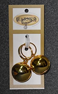Warner Small Gold Colored Steel Pet Bells for Dog/Cat Collar