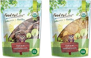Organic Dried Apricots and Figs Bundle - Organic Dried Apricots, 2 Pounds and Organic Dried Figs, 2 Pounds - Non-GMO, Kosh...