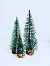 dandelion home Set of 3 Green Mini Christmas Trees Miniature Xmas Holidays Decor Pine Tree Tabletop Desktop Ornament Artif...