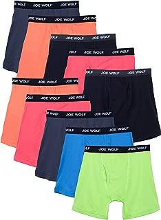 10 Pack Men's Cotton Blend Spandex Boxer Briefs Underwear