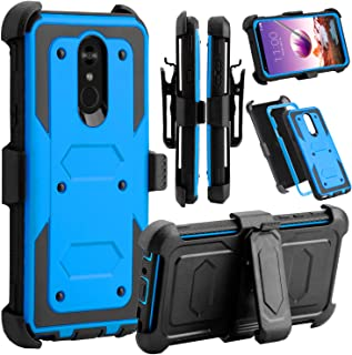 Venoro LG Stylo 4 Phone Case, LG Stylo 4 Case, Heavy Duty Shockproof Full Body Protection Case Cover with Swivel Belt Clip and Kickstand for LG Q Stylo/LG Stylo 4+ / LG Stylo 4 Plus (Blue)