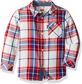 Levi's Boys' Long Sleeve One Pocket Button Up Shirt