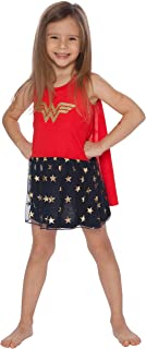 Wonder Woman Girls Tank Nightgown with Cape