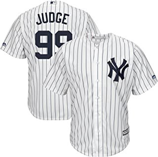 b2c03fa3040 Outerstuff Aaron Judge New York Yankees MLB Majestic Toddler White Home  Cool Base Player Jersey