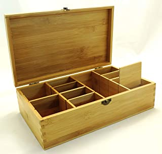 wooden box with small compartments