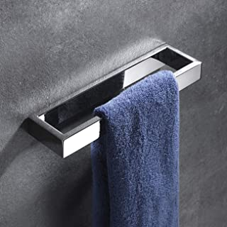 Hoooh Bath Towel Ring Polioshed Stainless Steel Hand Towel Holder for Bathroom Wall Mounted, D110-CH