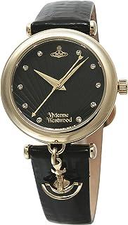 [ヴィヴィアンウエストウッド]Vivienne Westwood 腕時計 TRAFALGAR ブラック文字盤 ブラック革 クォーツ VV108BKBK レディース 【並行輸入品】