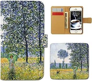 OPPO Find X2 Pro OPG01 ケース 手帳型 絵画 手帳ケース スマホケース カバー アート 芸術 印象派 モネ ポプラ E0226040113005