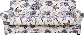 Best hyha Printed Couch Cover for 3 Cushion Couch - Floral Pattern Sofa Cover with Separate Cushion Cover, 4 Pieces Stretch Sofa Slipcover Washable Furniture Protector (Sofa, Vintage Flower) Review
