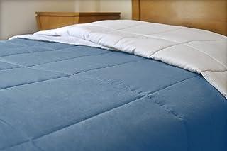Edredón Ligero Reversible de Lino (King Size, Azul/Blanco)