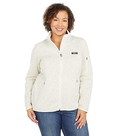 L.L.Bean Plus Size Sweater Fleece Full Zip Jacket (Sailcloth) Women