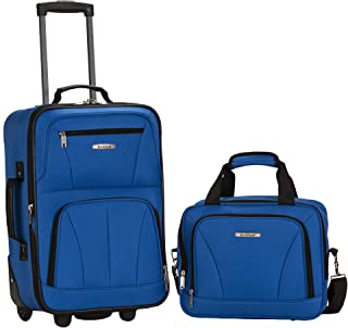 Rockland 2 Pc Luggage Set, Blue (Blue) - F102