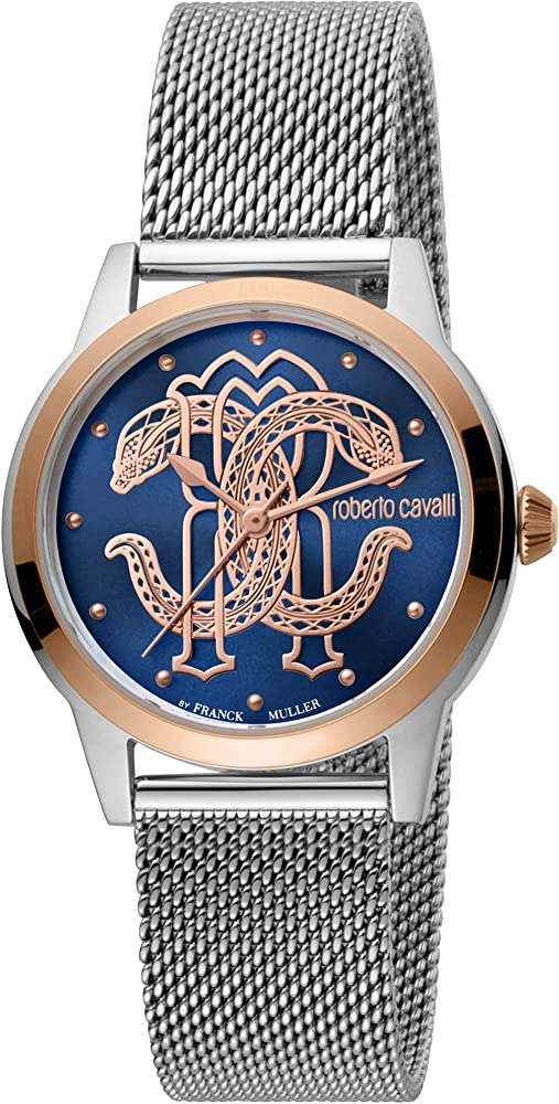 Roberto cavalli by franck muller , orologio elegante per donna,in acciaio inossidabile RV1L117M0121