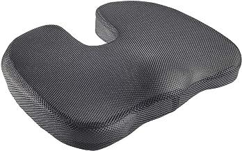 Highliving® - Cuscino in memory foam per alleviare il dolore al coccige, per supporto lombare e ortopedico Black