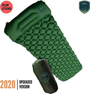 Eldar Outdoor Camping Sleeping Pad for Backpacking - Inflatable Lightweight Camping Mattress with Pillow and Travel Bag for Camping Hiking Trekking Traveling Tent