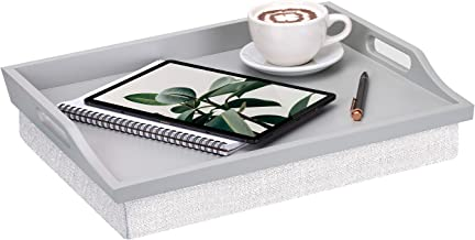 Rossie Home Lap Tray with Detachable Pillow, Serving Tray - Calming Gray - Style No. 76105