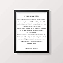 Pulling Henry David Thoreau Quote Print Wall Art Framed I Went to The Woods