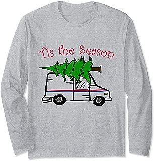 Tis The Season Mailman Postal Worker Postal Carrier Xmas Long Sleeve T-Shirt